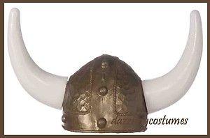 gold viking helmet horns hat sports halloween costume accessory prop