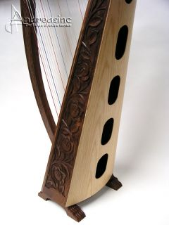 Pro Quality Irish Celtic Meghan Floor Harp 3 Play Books Free