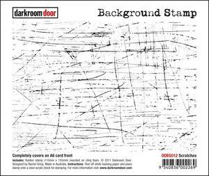 Darkroom Door Cling Stamp Scratches Background Rubber UM DDBS012