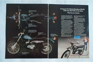 1976 Harley Davidson SX 175 AMF HD motorcycle AD motocross dirt bike