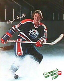 Vintage Wayne Gretzky Edmonton Oilers Poster 1982 7 Up Canada Original