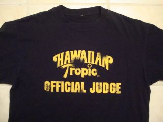 HAWAIIAN TROPIC sun tan lotion Bikini Contest Judge t shirt m l