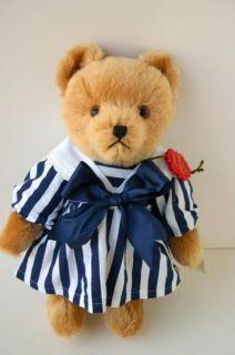 Hermann Teddy Original Bear Mohair Nautical Dress Growler Stuffed 12