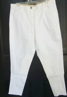 New Harry Hall Excel White Cotton Knee Patch Breeches