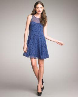 Rebecca Taylor Leopard Print Chiffon Dress