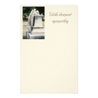 With deepest sympathy Weeping Angel Stationery