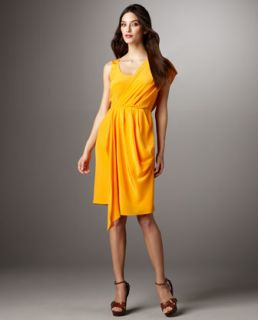 Ali Ro Asymmetric Draped Dress