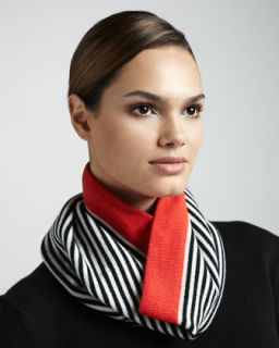 kate spade new york big apple striped neck warmer, red   Neiman Marcus