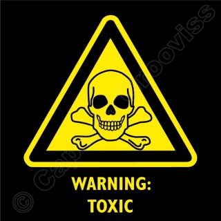 Toxic Hazard Warning Sign Skull and Crossbones T Shirt