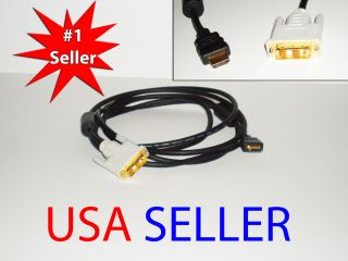 10 ft Male DVI to Male HDMI Cable Black AWM Style E119932
