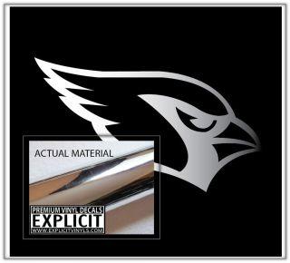 Arizona Cardinals CHROME Wall Car Truck Vinyl Decal Skin Sticker