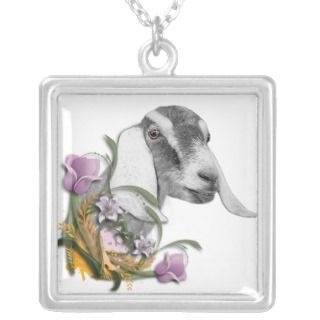 Nubian Goat Floral Necklace