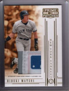HIDEKI MATSUI 2005 PRIME PATCHES GAME USED EQUIPMENT TAG LOGO PATCH #1