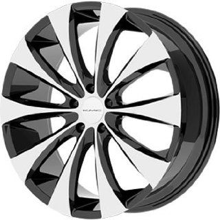 KMC KM679 18x8 Machined Black Wheel / Rim 5x4.5 with a 15mm Offset and