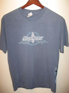 Southern California Surf Sea Hermosa Beach Sports Bar Blue T Shirt Lrg
