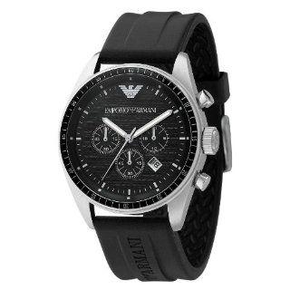 Emporio Armani Watch, Mens Chronograph Black Rubber Strap AR0527