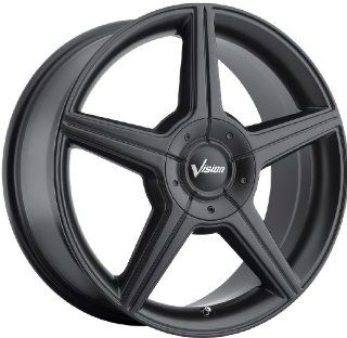 Vision Autobahn 17 Matte Black Wheel / Rim 5x112 & 5x4.5 with a 40mm