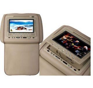 Pair 7 LCD Car  4 Headrest DVD Player USB 32 Bits Game Beige