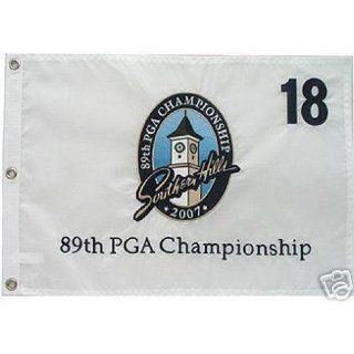 2007 PGA Southern Hills Tour Flag Authentic TIGER WOODS