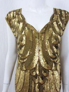 Haute Hippie Womens Allover Gold Dress s $950 New
