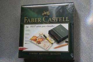 faber castell 24 pitt artist pen brush new time left