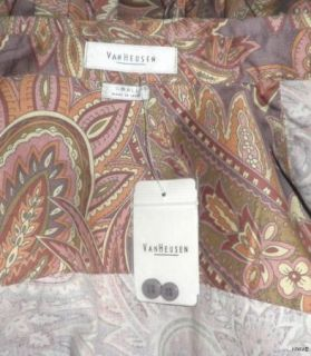 Van Heusen Womens Floral Paisley Shirt Size Small