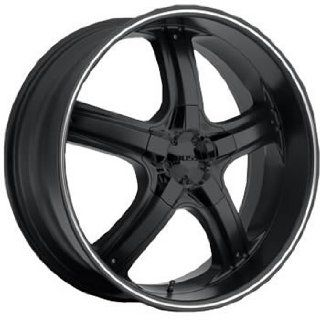 Boss 333 24 Flat Black Wheel / Rim 6x5.5 with a 32mm Offset and a 108