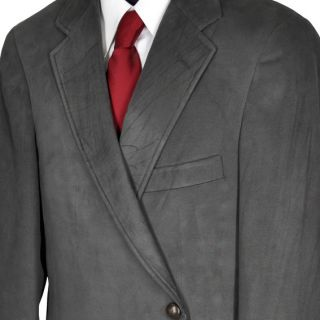 40R AQUASCUTUM Gray Green Two Button Microsuede Sport Coat Jacket