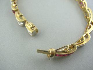 Oscar Heyman Gold 9 15ct Ruby 2 16ct Diamond Bracelet