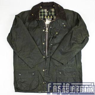 Vtg Barbour England Waxed Cotton Oilskin Rain Coat Jacket 40