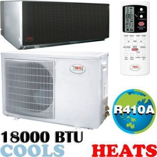 18000 BTU Ductless Mini Split Air Conditioner Heat Pump Mirror Sanyo