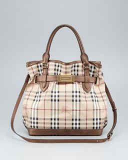 e3021274834 ... Burberry Belted Check Tote Bag ...
