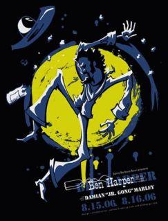 Ben Harper Damian Marley Santa Barbara Concert Poster