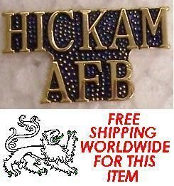  Lapel Push Tie Tac Pin Air Force Base Text Hickam AFB Text New