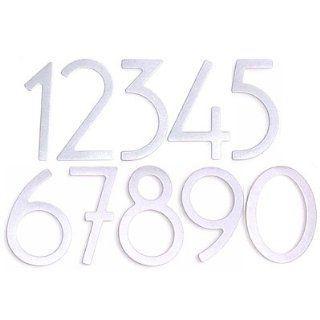 5 # 3 Artist House Number (Satin Silver Finish) Home