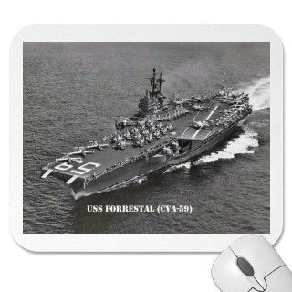 USS FORRESTAL (CVA 59) MOUSE PADS