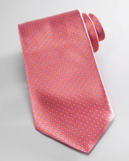 N20RM Stefano Ricci Mini Flowers Silk Tie, Orange