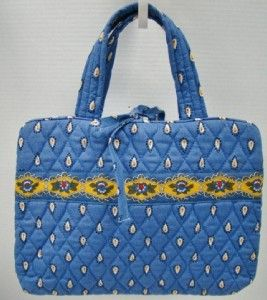 Vera Bradley French Blue Hanging Organizer Cosmetic Case Travel Blue