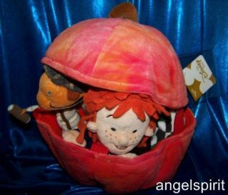 DISNEYS JAMES and the GIANT PEACH Stuffed Plush 5pc bean bag dolls Toy