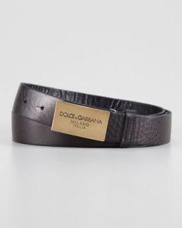 N20X4 Dolce & Gabbana Logo Plaque Belt