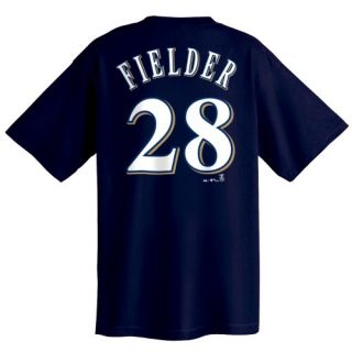 Fielder Milwaukee Brewers Name and Number T Shirt