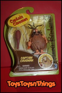 Hanna Barbera 2012 Captain Caveman with Club Figure New 3 3 5 Inch