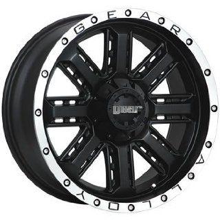 Gear Alloy Nitro 20x9 Black Wheel / Rim 6x5.5 & 6x135 with a 18mm