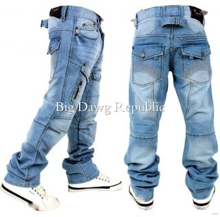 Mens Boys Jeans Comfort Style Fit Time Is Hip Cargo Money