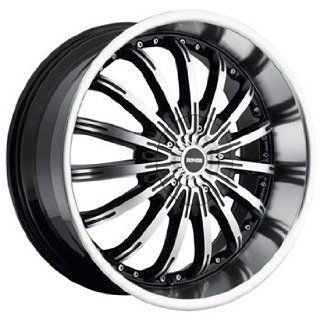 Dropstars 640 22x9.5 Machined Black Wheel / Rim 5x4.5 & 5x4.75 with a