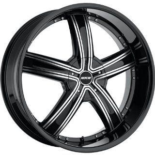 MKW M103 20 Black Machined Wheel / Rim 5x112 & 5x4.5 with a 40mm