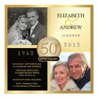 Aniversario de boda entonces y ahora invitaciones comunicado de