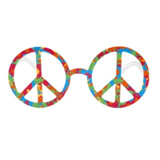 Peace Sign Psychedelic Glasses Hippie Costume Accessory