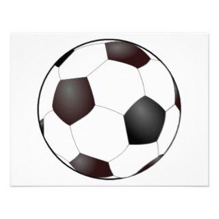 Invitaciones del balón de fútbol comunicado de