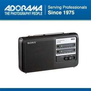 Sony ICF38 Portable High Power Am FM Radio AC DC Black